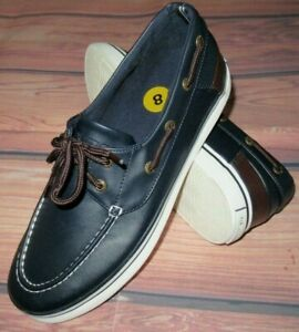 MENS NAUTICA NAVY BLUE CASUAL BOAT SHOES SIZE 8