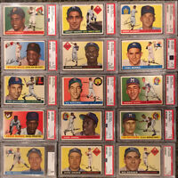 1955 Topps Baseball Complete Set: Clemente, Koufax, Killebrew -- All PSA 4