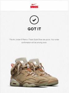 Brand New Jordan 6 Retro Travis Scott BRITISH KHAKI DH0690-200 SIZE 10.