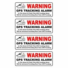 Car Sticker WARNING GPS TRACKING ALARM Reflective Personality 10CM*3.9CM 4pcs