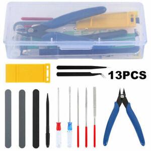 Basic Tools Craft Set Car Model Building Repair Fix Kit For Gundam Modeler T^qi