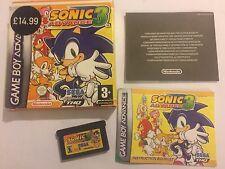 Nintendo GAME BOY ADVANCE GBA SP Game SONIC ADVANCE 3/III/3rd PAL COMPLETO