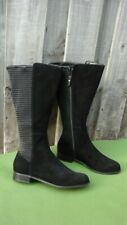 Ros Hommerson Bianca Women's Sz 8.5M Black Leather Mid Wide Calf Boots NWOT