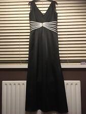 Women's Black Kaleidoscope Long Evening Dress Size 12
