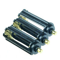 3x AAA Battery Plastic Holder Box Case Cylindrical Type For 18650 Flashlight MA