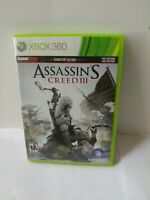 Xbox 360 Assassin's Creed III 3 Video Game ~ COMPLETE ~ TESTED ~ FREE SHIP