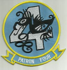 NAVY VP 4 AVIATION PATROL SQUADRON FOUR MILITARY PATCH SKINNY DRAGONS PATRON 4