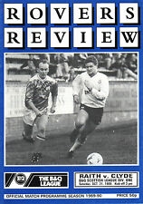 1989/90 Raith Rovers v Clyde, Division 1, PERFECT CONDITION