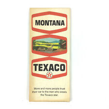 Texaco Montana USA Travel Road Trip Highway Map State Driving Vintage 1970s