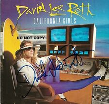 DAVID LEE ROTH 8X10 AUTHENTIC IN PERSON SIGNED AUTOGRAPH REPRINT PHOTO RP