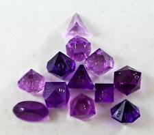 Gamescience Dice Full Poly Set Translucent Amethyst (12) (Plain) MINT
