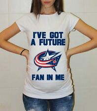 Columbus Blue Jackets Baby Shower Maternity Shirt Hockey Pregnancy Shirts Baby