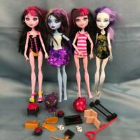 Monster High Doll Lot DRACULAURA Abbey Bominable Spectra Vondergeist Clothes