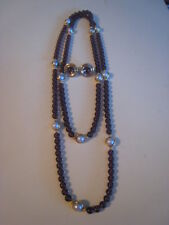 AVON NECKLACE & EARRINGS – NECKLACE IS PINKISH BROWN BEADS