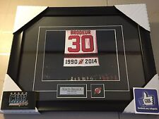 Martin Brodeur New Jersey Devils unsigned Hockey Frame Cadre Banner Retirement