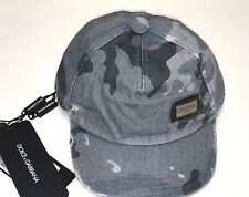 D&G New Boys Kids Cotton Army Camouflage HAT BASEBALL CAP  Sz: M RTL $120 Q194