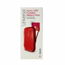 OEM Universal Portable Battery Pack Micro USB Power Charger 1950mAh T-Mobile Red