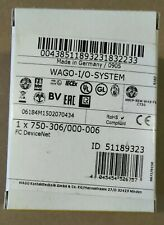 WAGO, 750-306/000-006, DEVICENET BUS COUPLER, NEW BUT OLD