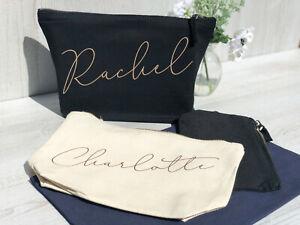 Wedding Gift, Bridesmaid Gift, Bridesmaid,Personalised Makeup Bag, WeddingFavour