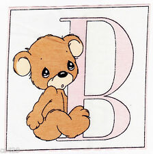 "5"" Precious moments wall letter b alphabet wall safe fabric decal cut out"