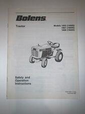 BOLENS MODEL 1463, 1667, 1668 TRACTOR OPERATORS MANUAL 3834-1 from 1983