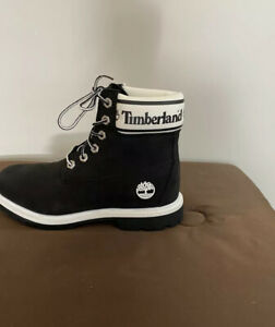 women timberland boots size 8.5 With Logo