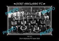 SANFL LARGE HISTORIC PHOTO OF THE PORT ADELAIDE FC TEAM 1929