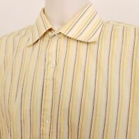 Banana Republic Long Sleeve Shirt Men's Large Yellow Striped Cotton