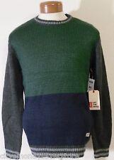 NWT Vans Silva Mens Wool Blend Crew Neck Sweater M Pine Peacoat MSRP$89