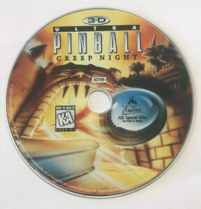 3D Ultimate Pinball Creep Night Computer PC Game CD Disc by Sierra