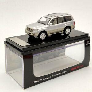 HIKASI Toyota Land Cruiser LC100 V8 VXR 1:64 Limited Diecast Models Silver