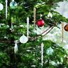 12x Eiszapfen Weihnachtsbaum Ornament Xmas Holiday Home Party Dekoration De