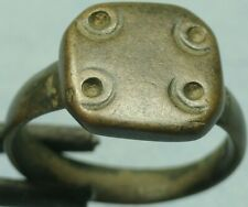 Roman Bronze Shield Ring, Punctured Dots