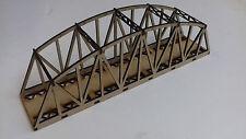 Laser Cut N Gauge Single Track Camel Back Girder Bridge Kit 3mm MDF 27cms Long