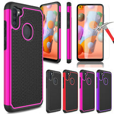 For Samsung Galaxy A11 Phone Case Shockproof Rugged Cover/Glass Screen Protector