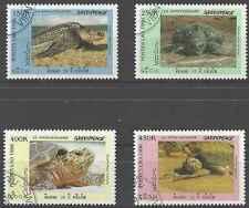 Timbres Reptiles Tortues Laos 1244A/D o lot 18522