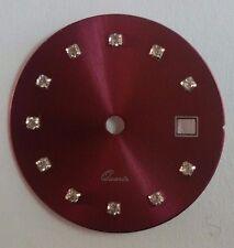 Quadrante tipo Rx bordeau con zirconi per calibro ETA 956.112-F03.111-Ronda 775