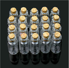 Wholesale 50 Pcs 2ml Bottle 16x35mm Small Tiny Clear Glass Bottle Vial With Cork