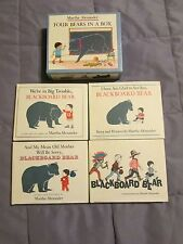 Four Bears in a Box by Martha Alexander (1981, Book) EXCELLENT 4 HC Books w/dJ