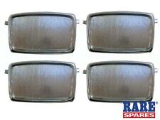 HOLDEN HD HR & EARLY HK OUTER DOOR HANDLE SCRATCH PLATES SET OF 4 RARE SPARES
