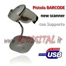 PISTOLA BARCODE SCANNER LETTORE CODICE A BARRE USB CASA UFFICIO SUPPORTO no WIFI