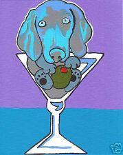 WEIMARANER Martini Dog Pop Art PRINT of Painting VERN