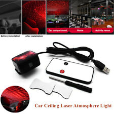 Car SUV Rotate Red LED Night Roof Light Rotating Star Projector Atmosphere Lamp