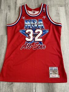 100% Authentic Magic Johnson Mitchell & Ness 1991 All Star Jersey Size 44 L Mens