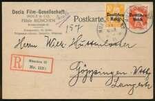 D.Reich Nr. 120 + 125 Drucksache-Einschreiben MÜNCHEN 23.3.21 (69875)