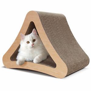 ScratchMe Triangle Cat Scratcher Post Scratching Board Prevents Furniture Damage