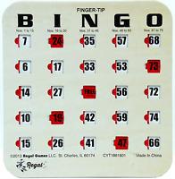 100 Pack Reusable Finger-tip Shutter Slide Bingo Cards ( Woodgrain / Tan )