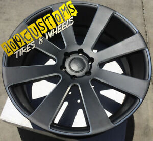 "22"" 22X9.5 6x135 +30 DUB S187 8 BALL BLACK WHEELS ONLY FORD F-150 EXPEDITION"