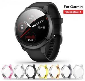 For Garmin Vivoactive 4 Protective Bumper Case Screen Protector Cover