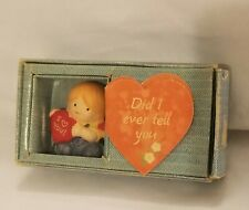 """Cute 1984 Enesco Country Cousins """"I Love You"""" Figurine, New in Worn Package!"""